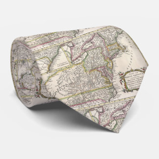 Discovering The Eastern United States Map (1759) Tie