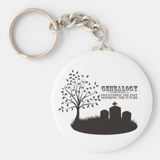 Discovering The Past. Inspiring The Future Keychain