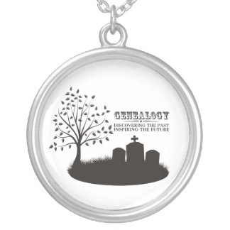 Discovering The Past. Inspiring The Future Round Pendant Necklace