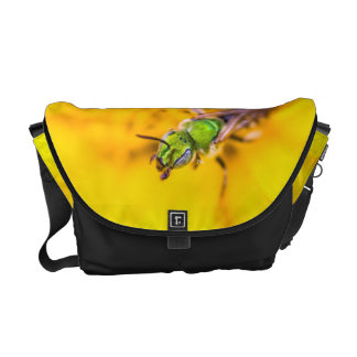 discovering yellow courier bag
