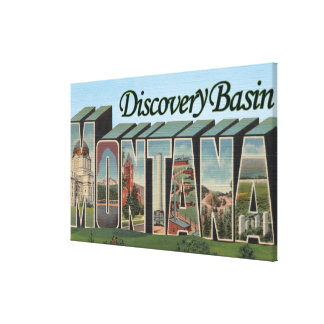 Discovery Basin, Montana - Large Letter Scenes Gallery Wrapped Canvas