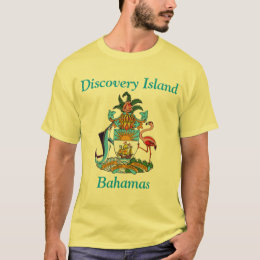 Discovery Island, Bahamas with Coat of Arms T-Shirt