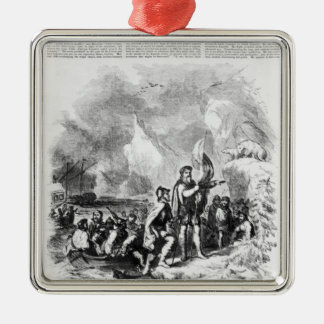 Discovery of America by John and Sebastian Metal Ornament