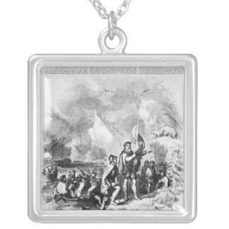 Discovery of America by John and Sebastian Silver Plated Necklace