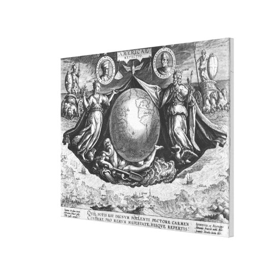 Discovery of America Canvas Print
