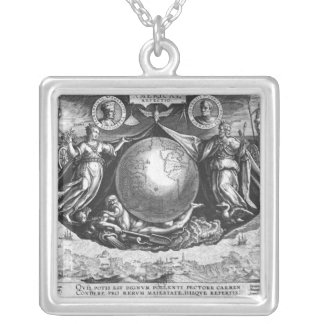 Discovery of America Silver Plated Necklace