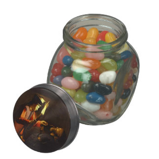 Discovery of Body of St. Alexis by Georges Tour Jelly Belly Candy Jar