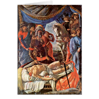 Discovery Of The Holofernes By Sandro Botticelli Greeting Card