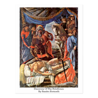 Discovery Of The Holofernes By Sandro Botticelli Postcard