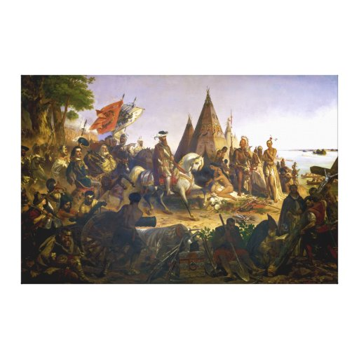 Discovery of the Mississippi by William H. Powell Canvas Prints