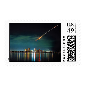 Discovery Over West Palm Beach postage stamp