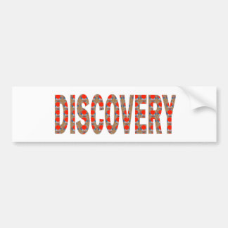 DISCOVERY Research Search Innovation Science Cosmo Car Bumper Sticker