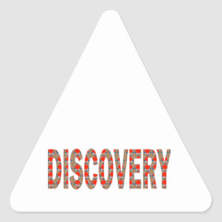 DISCOVERY Research Search Innovation Science Cosmo Triangle Sticker