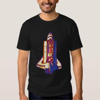 Discovery Seen From Mir Pop Art T Shirt