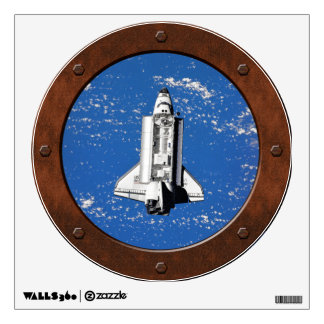 Discovery Seen From Mir Porthole Room Decals