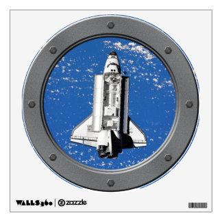 Discovery Seen From Mir Porthole Wall Decor