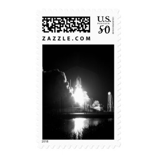 Discovery Space Ship Rocket Liftoff Blast Stamp