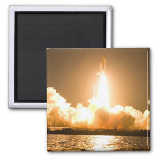 Discovery Space Shuttle Liftoff 2 Inch Square Magnet