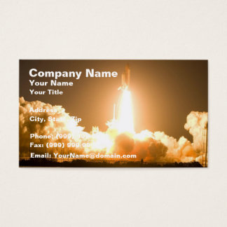 Discovery Space Shuttle Liftoff Business Card