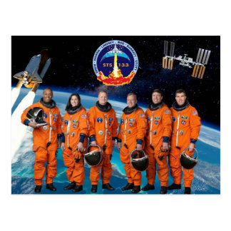DISCOVERY STS 133 CREW POSTCARD