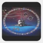 Discovery Tribute Square Sticker