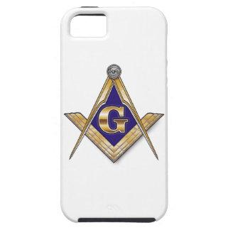 Discreet Blue Square & Compasses iPhone 5 Cases