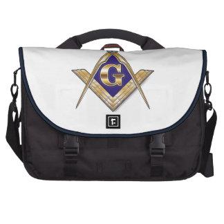 Discreet Blue Square & Compasses Laptop Bag