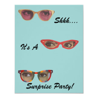 Discreet Details Retro Party Surprise Invitations