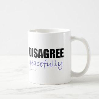 Discrepa pacífico - el negro tazas de café