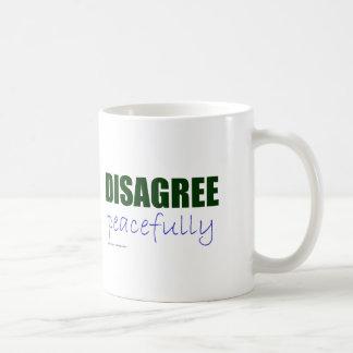 Discrepa pacífico - el verde tazas