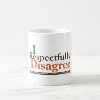 Discrepa respetuoso la taza