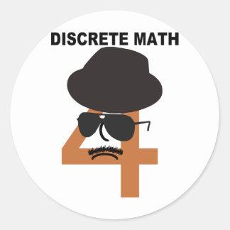Discrete Math Round Stickers