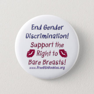 Discrimination & Bare Breasts Kiss Button