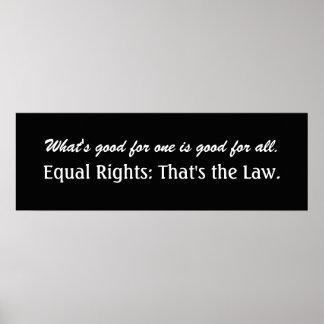 Discrimination - Equal Rights - SRF Poster