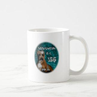 Discrimination is a Disease, Pitbull Anti BSL Classic White Coffee Mug