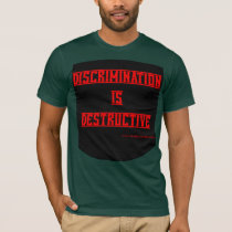 Discrimination is Destructive Red on Black 2X T-Shirt