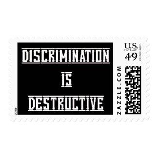 Discrimination Is Destructive Stamp
