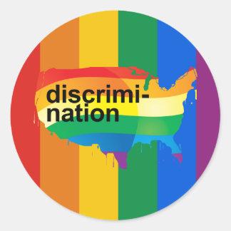 DiscrimiNATION Round Sticker