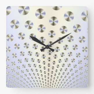 Discs in White and Blue Wall Clock