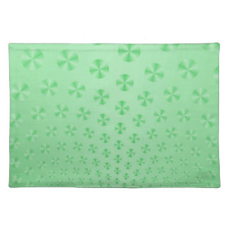 Discs on Mint Green Placemats Cloth Place Mat