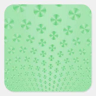 Discs on Mint Green Sticker