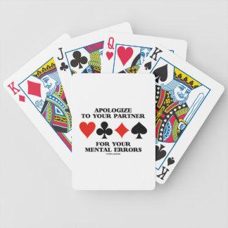 Discúlpese a su socio por sus errores mentales cartas de juego