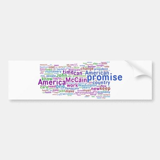 Discurso de aceptación de Barack Obama Etiqueta De Parachoque