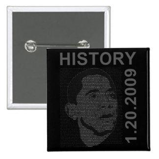 discurso de la inauguración con imagen embeded pin cuadrada 5 cm