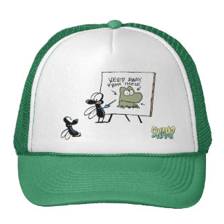 Discurso de la seguridad de la rana de la mosca de gorras de camionero