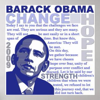 Discurso de Obama Póster