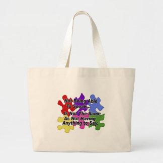 Discurso del autismo bolsa de mano