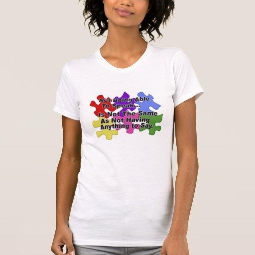 Discurso del autismo camisetas