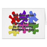 Discurso del autismo felicitaciones