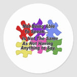 Discurso del autismo pegatina redonda